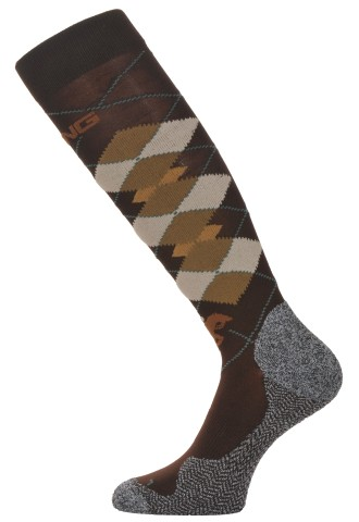 Covalliero-Sokken-geruit-zomer-bruin