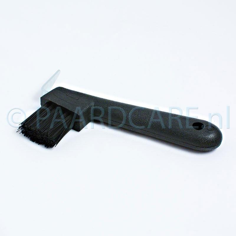 Euro-Horse-Line-Hoevenkrabber-met-borstel-plastic-zwart