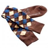 USG-Sokken-geruit-versterkt-mini-karo-bruin